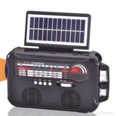 Radios antiguas: RADIO 3 BANDAS ALTAVOZ USB TF CARGA SOLAR - NUEVO. Lote 274858368