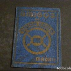 Radios antiguas: CARNET AMIGOS DE UNION RADIO MADRID 1938 GUERRA CIVIL. Lote 275847718