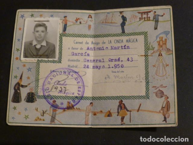 Radios antiguas: CARNET AMIGO LA ONDA MAGICA RADIO NACIONAL DE ESPAÑA 1950 - Foto 2 - 275847933