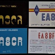 Radios antiguas: 4 TARJETA RADIOAFICIONADO AÑOS 70 SANTA CRUZ DE TENERIFE LAS PALAS CANARIAS GRAN CANARIA. Lote 276146333