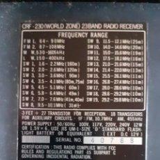 Radios antiguas: SONY 23 BANDAS. Lote 278327253