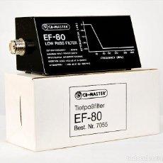 Radios antiguas: FILTRO PASO BAJO 500 WATIOS EF-80 CB-MASTER ANTI-INTERFERENCIAS COMPLETAMENTE NUEVO. Lote 281055823