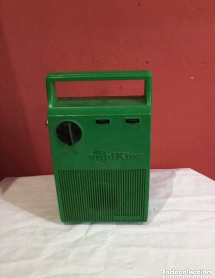 RADIO CASSETTE ANTIGUA MINIKING RARO . ITALY ANTIGUA (Radios, Gramófonos, Grabadoras y Otros - Radioaficionados)