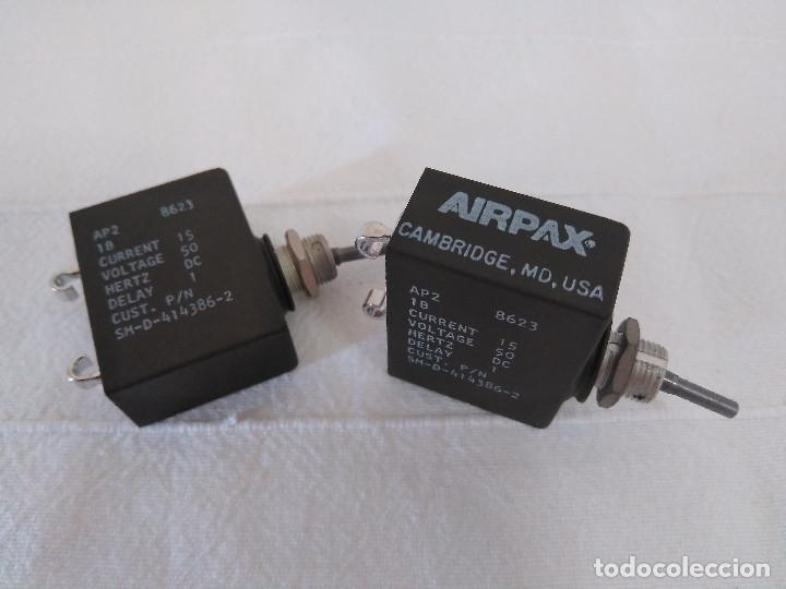 2 INTERRUPTORES DE PALANCA DE CARGA Y CORTE - AIRPAX AP2 (Radios, Gramófonos, Grabadoras y Otros - Radioaficionados)