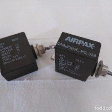 Radios antiguas: 2 INTERRUPTORES DE PALANCA DE CARGA Y CORTE - AIRPAX AP2. Lote 286359048