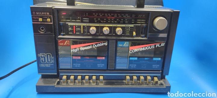 Radios antiguas: RADIO CASSETTE SILVER SR 50 X VINTAGE - Foto 2 - 286408988
