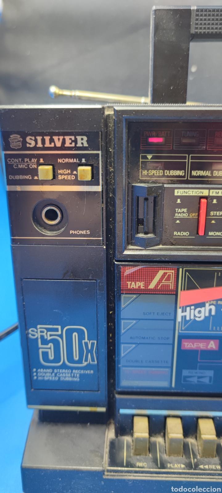 Radios antiguas: RADIO CASSETTE SILVER SR 50 X VINTAGE - Foto 3 - 286408988