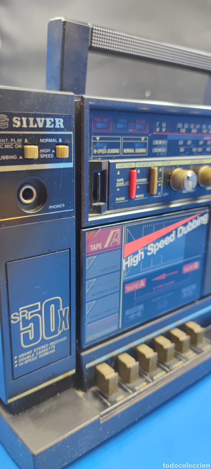 Radios antiguas: RADIO CASSETTE SILVER SR 50 X VINTAGE - Foto 10 - 286408988