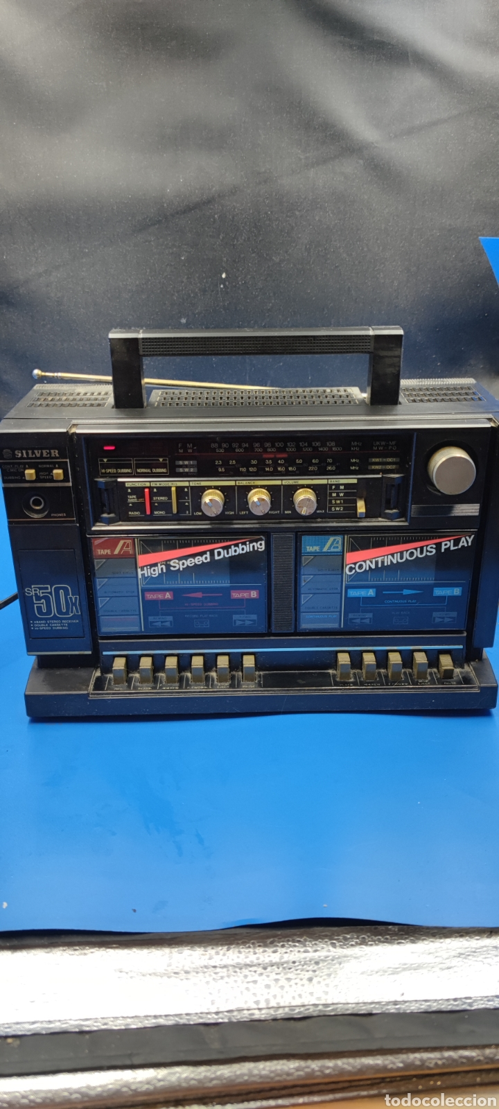 RADIO CASSETTE SILVER SR 50 X VINTAGE (Radios, Gramófonos, Grabadoras y Otros - Radioaficionados)