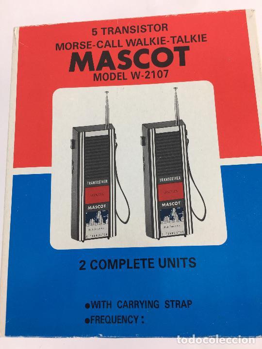Radios antiguas: WALKIE TALKIES MASCOT W-2107 - EN SU CAJA ORIGINAL - MADE IN JAPAN - Foto 2 - 287714313