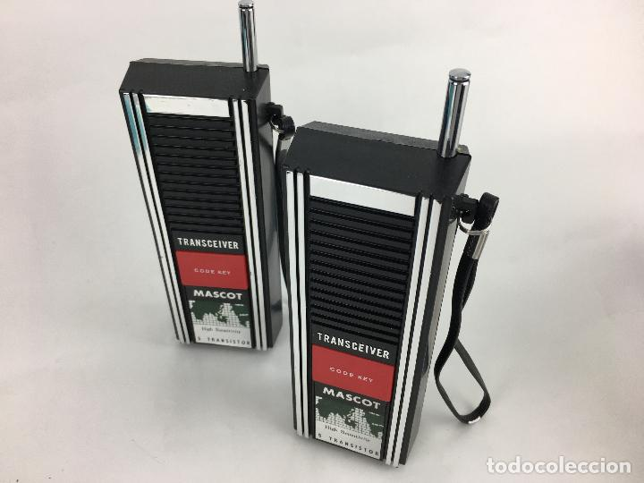 Radios antiguas: WALKIE TALKIES MASCOT W-2107 - EN SU CAJA ORIGINAL - MADE IN JAPAN - Foto 5 - 287714313