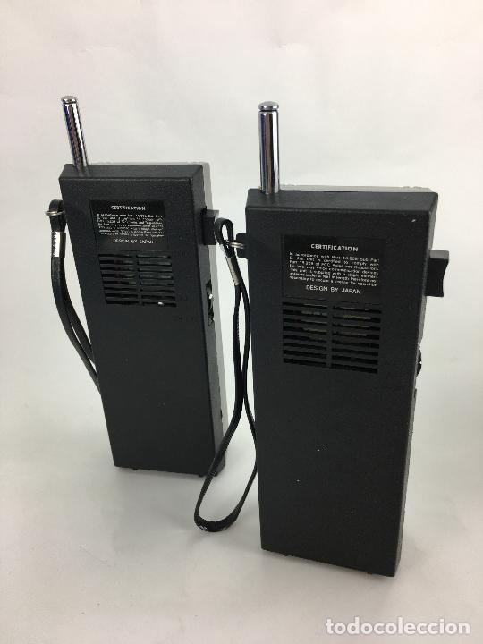 Radios antiguas: WALKIE TALKIES MASCOT W-2107 - EN SU CAJA ORIGINAL - MADE IN JAPAN - Foto 7 - 287714313