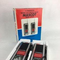Radios antiguas: WALKIE TALKIES MASCOT W-2107 - EN SU CAJA ORIGINAL - MADE IN JAPAN. Lote 287714313
