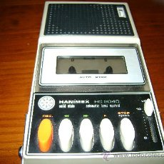 Fonógrafos y grabadoras de válvulas: GRABADORA MAGNETOFONO A CASSETTE HANIMEX HC2040. Lote 25270452