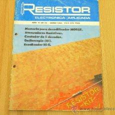 Fonógrafos y grabadoras de válvulas: RESISTOR Nº 46. Lote 37431315