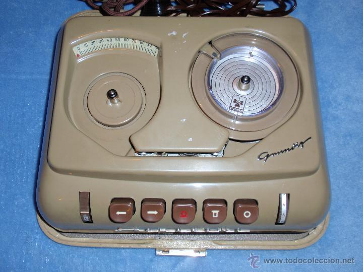 MUY ANTIGUA GRABADORA - DICTÁFONO GRUNDIG AÑO 1954 - STENORETTE - MUY RARO Y DIFICIL DE ENCONTAR - (Radios, Gramófonos, Grabadoras y Otros - Fonógrafos y Grabadoras de Válvulas)