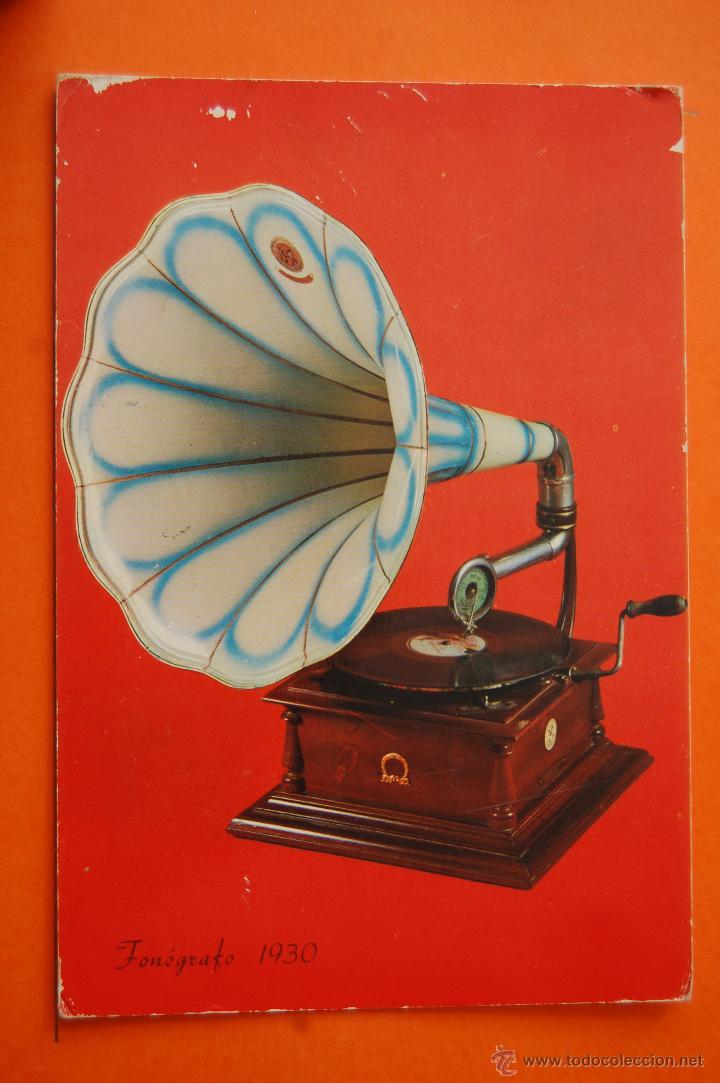 PON PRECIO SI OFERTA RAZONABLE ES TUYO//// POSTAL - FONOGRAFO 1930 - - NO CIRCULADA (Radios, Gramófonos, Grabadoras y Otros - Fonógrafos y Grabadoras de Válvulas)