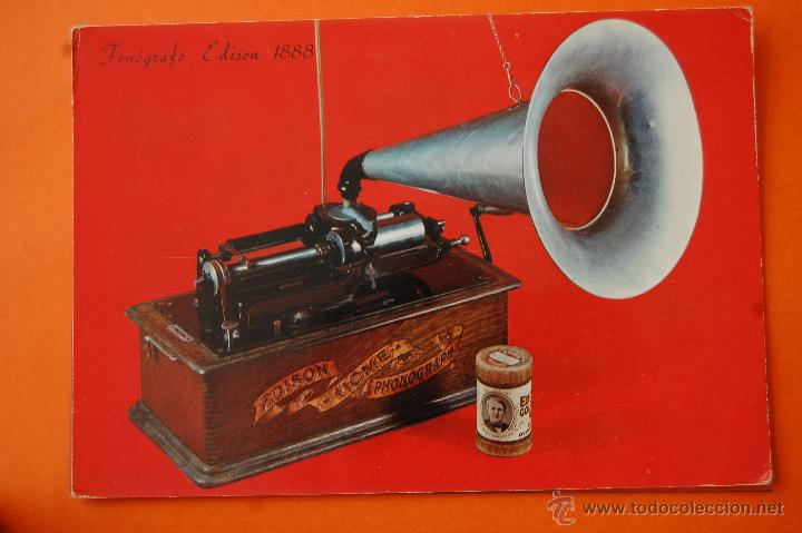 POSTAL - FONOGRAFO EDISON 1888 - - NO CIRCULADA (Radios, Gramófonos, Grabadoras y Otros - Fonógrafos y Grabadoras de Válvulas)