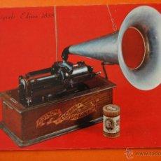 Fonógrafos y grabadoras de válvulas: POSTAL - FONOGRAFO EDISON 1888 - - NO CIRCULADA. Lote 47998857