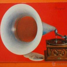 Fonógrafos y grabadoras de válvulas: POSTAL - FONOGRAFO 1920 - - NO CIRCULADA. Lote 93380674