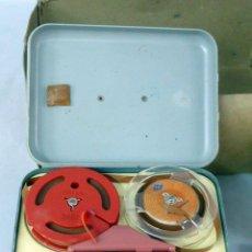 Fonógrafos y grabadoras de válvulas: MAGNETÓFONO INFANTIL PHNO TRIX CON CAJA ALTAVOZ Y MICRÓFONO FUNCIONA. Lote 48849239