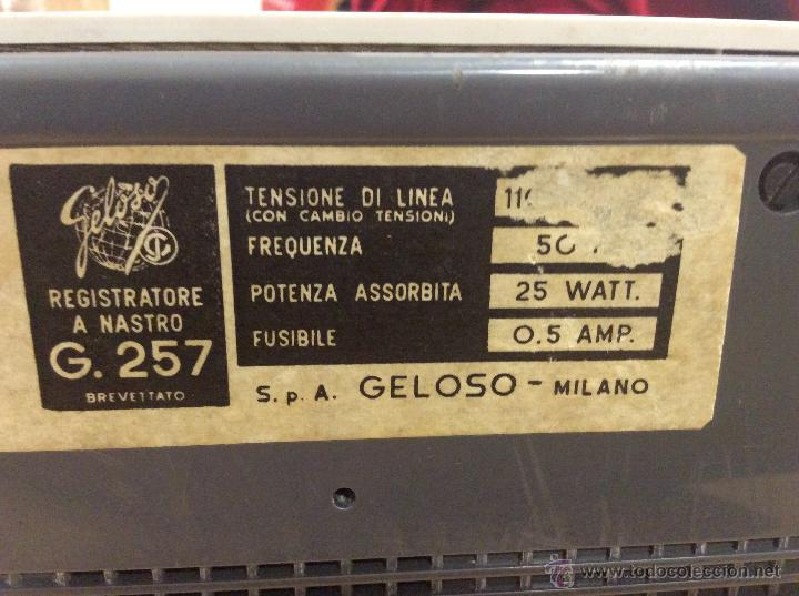 Phonographs and valve recorders: Magnetófono grabador Geloso G - 257 - Foto 7 - 49143181