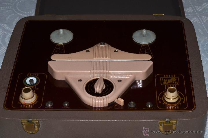IMPRESIONANTE MAGNETÓFONO INGRA (Radios, Gramófonos, Grabadoras y Otros - Fonógrafos y Grabadoras de Válvulas)
