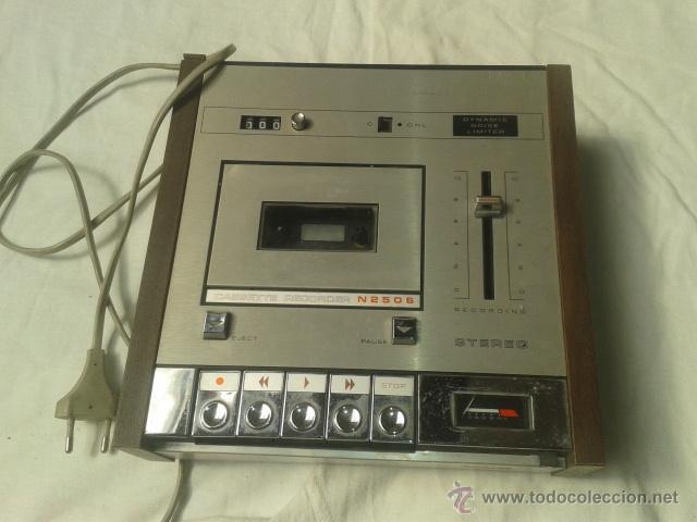 CASETTE GRABADORA PHILIPS ANTIGUO (Radios, Gramófonos, Grabadoras y Otros - Fonógrafos y Grabadoras de Válvulas)
