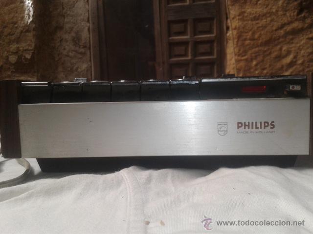 Fonógrafos y grabadoras de válvulas: CASETTE GRABADORA PHILIPS ANTIGUO - Foto 2 - 50385598