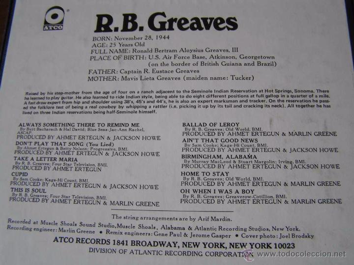 Fonógrafos y grabadoras de válvulas: R.B. GREAVES - ATCO CINTA MAGNETOFON MAGNETOFONO MAGNETOFONICA SIN ABRIR - Foto 5 - 51422607