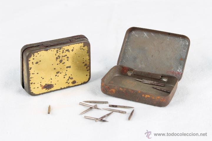 Fonógrafos y grabadoras de válvulas: ODEON Y LA VOZ DE SU AMO dos cajiitas con puntas para fonografo - Foto 2 - 54181409