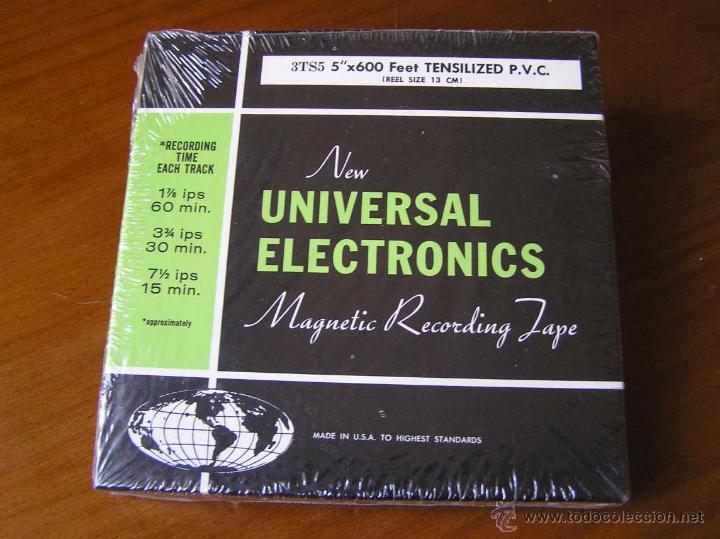 CINTA MAGNETICA DE MAGNETOFON MAGNETOFONO NEW UNIVERSAL ELECTRONICS 3TS5 EN CAJA SIN ABRIR (Radios, Gramófonos, Grabadoras y Otros - Fonógrafos y Grabadoras de Válvulas)