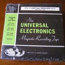 Fonógrafos y grabadoras de válvulas: CINTA MAGNETICA DE MAGNETOFON MAGNETOFONO NEW UNIVERSAL ELECTRONICS 3TS5 EN CAJA SIN ABRIR. Lote 54681689