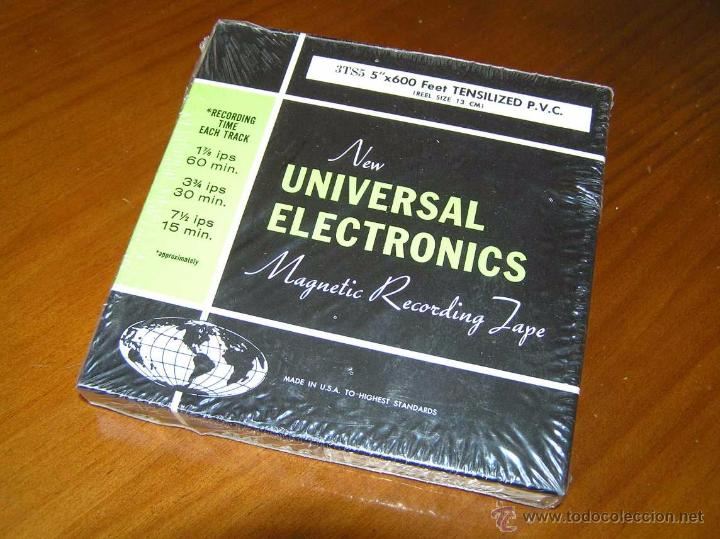 Fonógrafos y grabadoras de válvulas: CINTA MAGNETICA DE MAGNETOFON MAGNETOFONO NEW UNIVERSAL ELECTRONICS 3TS5 EN CAJA SIN ABRIR - Foto 2 - 54681689
