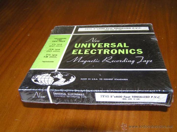 Fonógrafos y grabadoras de válvulas: CINTA MAGNETICA DE MAGNETOFON MAGNETOFONO NEW UNIVERSAL ELECTRONICS 3TS5 EN CAJA SIN ABRIR - Foto 3 - 54681689