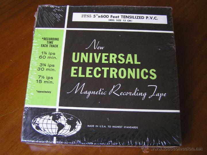 Fonógrafos y grabadoras de válvulas: CINTA MAGNETICA DE MAGNETOFON MAGNETOFONO NEW UNIVERSAL ELECTRONICS 3TS5 EN CAJA SIN ABRIR - Foto 4 - 54681689