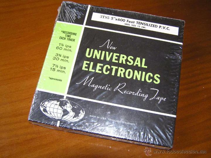 Fonógrafos y grabadoras de válvulas: CINTA MAGNETICA DE MAGNETOFON MAGNETOFONO NEW UNIVERSAL ELECTRONICS 3TS5 EN CAJA SIN ABRIR - Foto 8 - 54681689