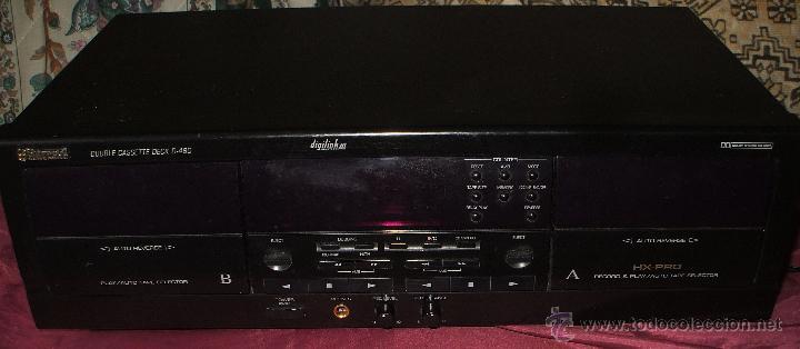 PLETINA SHERWOOD NEWCASTLE DOBLE CASSETE DECK D-480 EN BUEN ESTADO (Radios, Gramófonos, Grabadoras y Otros - Fonógrafos y Grabadoras de Válvulas)