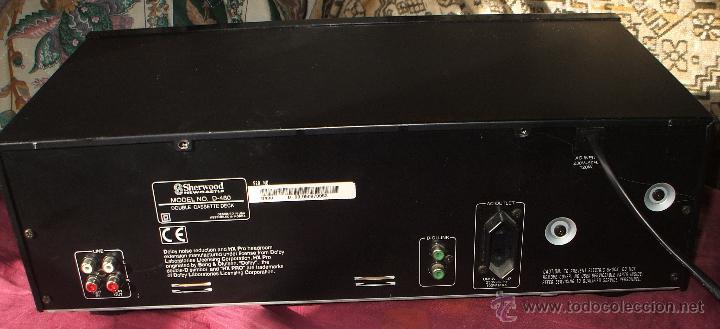 Fonógrafos y grabadoras de válvulas: PLETINA SHERWOOD NEWCASTLE DOBLE CASSETE DECK D-480 EN BUEN ESTADO - Foto 4 - 54962865