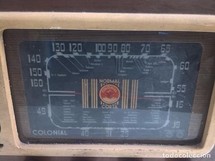 Fonógrafos y grabadoras de válvulas: RADIO COLONIAL DE MADERA - Foto 2 - 64769555
