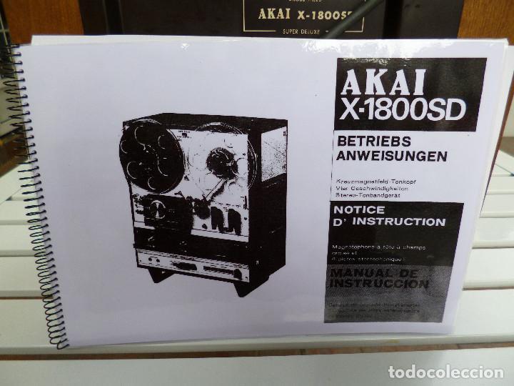 Fonógrafos y grabadoras de válvulas: MAGNETOFONO AKAI - 1800 SD - Foto 4 - 64899807