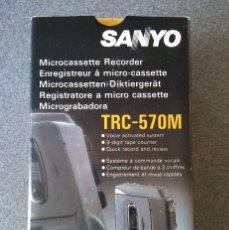 Fonógrafos y grabadoras de válvulas: MICROGRABADORA SANYO TRC 570M. Lote 67473561