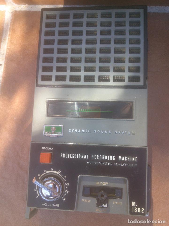 GRABADORA CASSETTE SANYO M-1302 (Radios, Gramófonos, Grabadoras y Otros - Fonógrafos y Grabadoras de Válvulas)