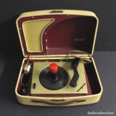Fonógrafos y grabadoras de válvulas: ANTIGUO PRECIOSO TOCADISCOS DE HARTUNG PRINZESS COMPLETO Y FUNCIONANDO. 1950 - 1959 (BRD). Lote 88925392