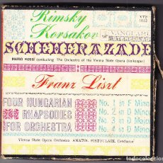 Fonógrafos y grabadoras de válvulas: CINTA MAGNETOFON - FRANZ LISZT - SCHEHERAZADE - MARIO ROSI - ANATOL FISTOULARI. Lote 93378325