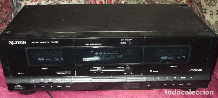 PLETINA X4-TECH DOBLE CASSETE DECK TP-1000 EN BUEN ESTADO (Radios, Gramófonos, Grabadoras y Otros - Fonógrafos y Grabadoras de Válvulas)