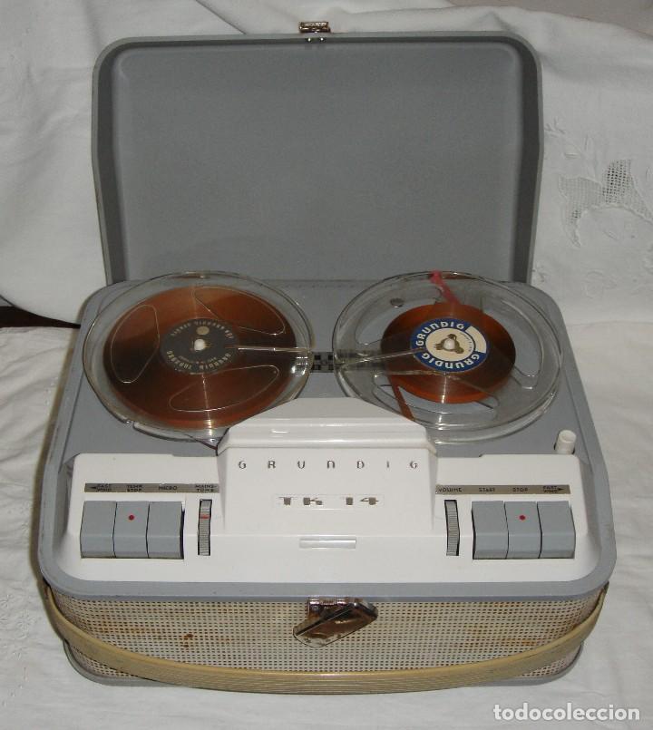 GRABADORA GRUNDIG TK 14 (Radios, Gramófonos, Grabadoras y Otros - Fonógrafos y Grabadoras de Válvulas)