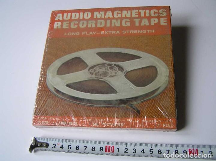 CINTA MAGNETICA MAGNETOFON MAGNETOFONO 31870 AUDIO MAGNETICS 1800 FEET 7 PULGADAS EN CAJA SIN ABRIR (Radios, Gramófonos, Grabadoras y Otros - Fonógrafos y Grabadoras de Válvulas)