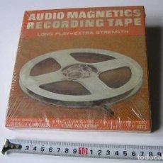 Fonógrafos y grabadoras de válvulas: CINTA MAGNETICA MAGNETOFON MAGNETOFONO 31870 AUDIO MAGNETICS 1800 FEET 7 PULGADAS EN CAJA SIN ABRIR. Lote 112217171