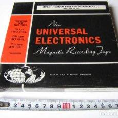 Fonógrafos y grabadoras de válvulas: CINTA MAGNETICA DE MAGNETOFON MAGNETOFONO NEW UNIVERSAL ELECTRONICS 3TL7 EN CAJA SIN ABRIR. Lote 112309099